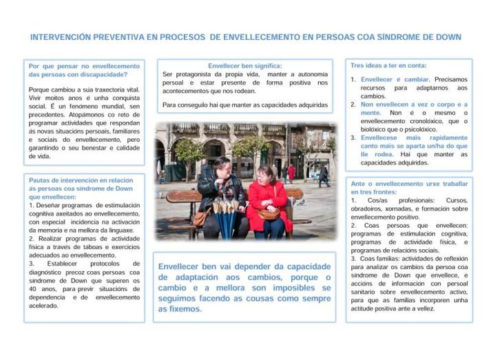 Down Galicia emite un nuevo comunicado conjunto con la SGXX Sociedade Galega de Xerontoloxía e Xeriatría